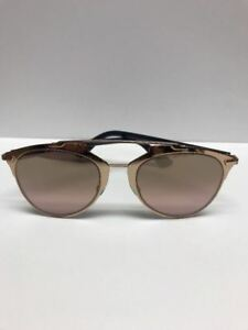 DIOR DIORREFLECTED 3210R Gold Mirror Aviator Sunglasses Made in Italy Authentic