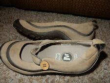 6/36 MERRELL Plaza Emme Leather Strap Wedge Hiking Walking Shoes