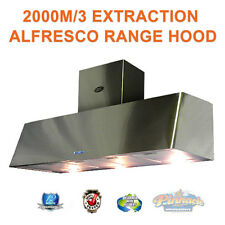 1500 COMMERCIAL CANOPY RANGE HOOD ALFRESCO INDOOR RANGEHOOD 2400M/3 EXTRACTION