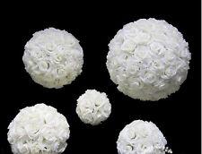 16 Inches White Rose Flower Ball Wedding decoratin Ball Kissing Ball  USA Seller