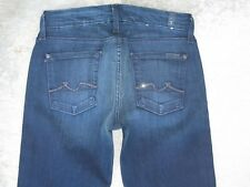7 for all Mankind Kimmie Bootcut Jeans Mid Rise Dark Distressed Sz 26 NEW
