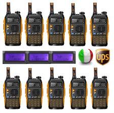 10×Baofeng GT-3 TP Mark III + Cavo 1/4/8W Vhf Uhf PMR Radio Ham Ricetrasmittente