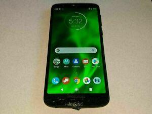 Motorola Moto G6 XT1925-12 M390A Black 32GB Verizon Wireless Smartphone SMASHED