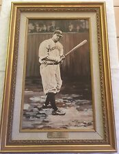 """Babe Ruth """"Early Yankee Years"""" Original Oil Painting Framed by Nancy White"""
