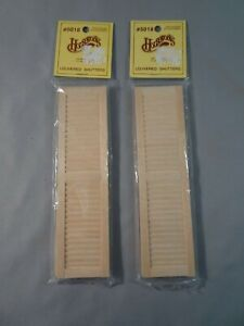 Houseworks Dollhouse Miniature Louvered Shutters 2 Packs 5018 Wood 2 Panel NOS
