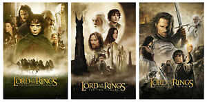 """THE LORD OF THE RINGS I, II & III - 3 PIECE MOVIE POSTER SET (SIZE: 24"""" X 36"""")"""