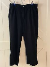 Bubba Golf Mens Pleated Pants Black 36X30 Excellent Comdition