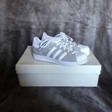 Adidas Superstar Trainers Silver Glitter UK 5.5