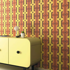 Retro Geometric Wallpaper Chocolate Orange Yellow Paste The Wall Vinyl Rasch