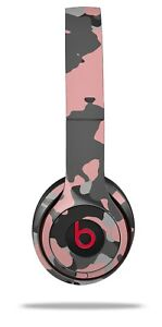Skin Beats Solo 2 3 Old School Camouflage Camo Pink Headphones NOT INCLUDED