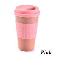 Plastic Wheat Straw Coffee Mug Cups Travel Camp Travel Mug Leakproof New