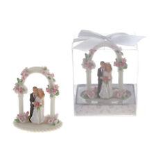 Mega Favors - Keepsake Wedding Couple Standing Under Arch Poly Resin, 12Pcs