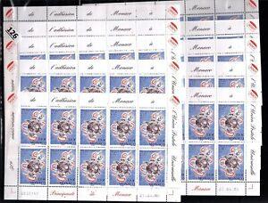 /// MONACO 2005 - MNH - UPU - SPACE - 10 SHEETS - 100 STAMPS