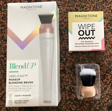 Magnitone BLEND UP vibra-sonic Blending Brush / Brush Head / Wipe Out Cloth