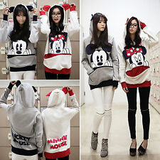 Women Ladies Mickey Mouse Hoodies Big Pockets Loose T-shirt Jumper Pullover Tops