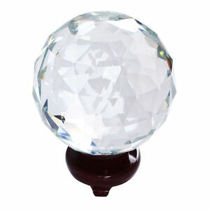Clear Cut Crystal Sphere 110MM Faceted Glass Ball Prisms Suncatcher Home Decor