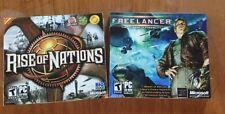 Microsoft Freelancer Free Lancer + Original Rise of Nations  PC Games Brand New