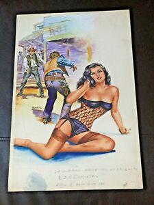 SEXY PIN-UP CHEESECAKE 1985 MEXICO COMIC ORIGINAL COVER ART