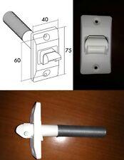 Pasacintas con muelle mini cinta 14 mm, pasamuros persiana, blanco blind.