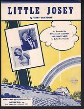 Little Josey 1953 Rosemary Clooney Jimmy Boyd Sheet Music