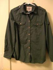 hudson rose 19 women's shirt L/S size 12 Green
