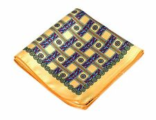 Lord R Colton Masterworks Pocket Square - Vatican Yellow Silk - $75 Retail New
