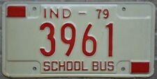 "TARGA Originale USA auto INDIANA ""SCHOOL BUS"" scuola bus UNICA rara Stati Uniti"