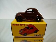 DINKY TOYS MINIATURES ATLAS 35A SIMCA 5 - BROWN 1:43? - MINT IN BOX