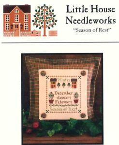 Little House Needleworks SEASON OF REST Cross Stitch Chart ~ sampler / winter