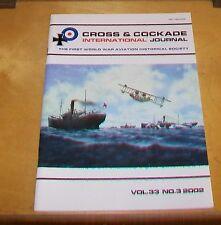 CROSS & COCKADE GREAT BRITAIN JOURNAL VOL 33 No 3 2002 U-BOAT WAR SOPWITH BABY