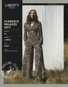 Liberty Of London Florence Palazzo Top Trousers Shorts sewing pattern sizes 6-22