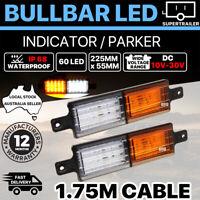 IP68 10-30V Sealed Bullbar Lights Front Indicator Park LED Bull Bar Light 60 LED