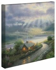 Thomas Kinkade Wrap Emerald Isle Cottage 14 x 14 Gallery Wrapped Canvas
