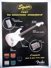 PUBLICITE-ADVERTISING :  Guitare FENDER Squier 2002