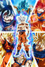 Dragon Ball Z/Super Poster Goku from SSJ to Ultra 12in x 18in Free Shipping