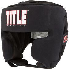 Title Boxing Gel Ultra-Lite Washable Custom Form Fit Headgear - Youth - Black