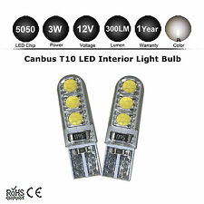 2x T10 LED 5050 6SMD White 5000k Light CANBUS ERROR FREE W5W 194 168 Door Bulb