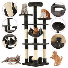 "New listing 52"" Cat Tree Condo Play House Kitty Scratching Climbing Tower Hammock Dark Gray"