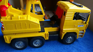 BRUDER very high quality German Made Yellow Mack Crane toy truck