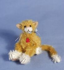 """Deb Canham """"Chester"""" Miniature Mohair Cat 3 1/2"""" Ginger Color Limited Edition"""
