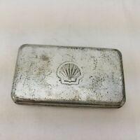 Vintage Looking Shell Tin Metal Box  #2743