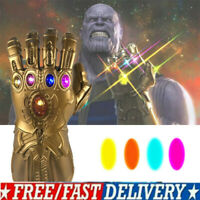 UK - Avenge 3 Infinity War Gauntlet LED Cosplay Thanos Gloves 2019 HOT