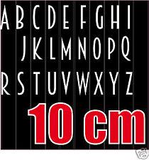 lot 26 lettres FINES autocollantes BLANC hauteur 10cm Lettres adhésives vinyle