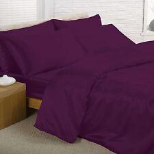 satin violet Super Housse de couette King-Size inclus Drap +4 Taie d'oreiller