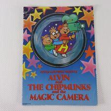 Vintage 80s Chipmunks Steven Goldberg Live Broadway Performance Tour Program