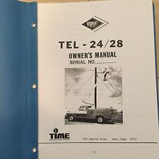 Versalift TEL - 24/28 Owner's Manual - 49 pages in folder