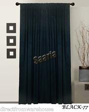 Saaria Black Velvet Curtains Screen Wall Covers Door home Decor Panel 54