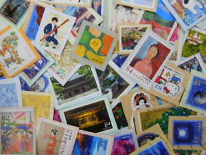 JAPAN STAMPS ( COMMEMO,PREFECTURAL,GREETING & ETC ) USED ON PAPER 1Kg ①