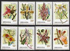 Flowers - Rwanda 1976 Orchids set fine fresh MNH