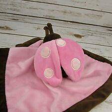 "Tiddliwinks Pink Ladybug Plush Lovey 14"" Security Blanket"